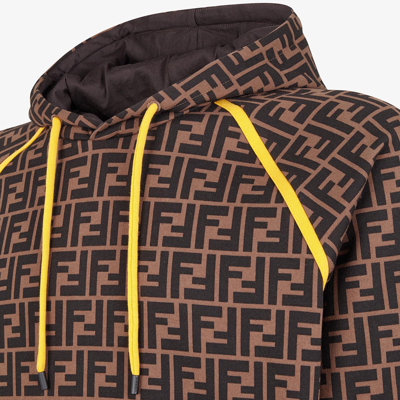 FENDI SWEATSHIRT - Brown cotton sweatshirt - view 3 detail