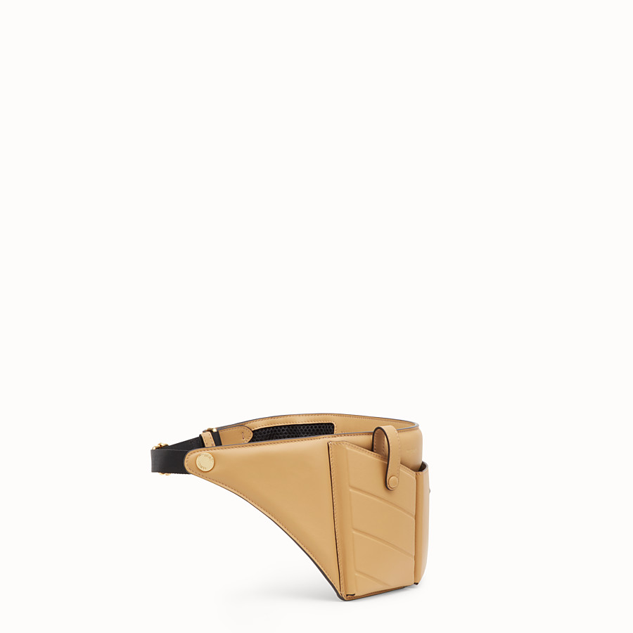 FENDI POCKETS BELT BAG - Brown leather belt bag - view 2 detail
