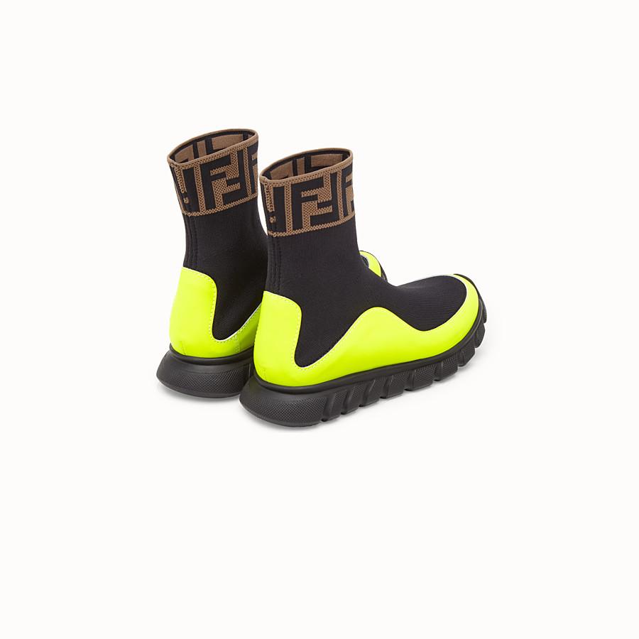 FENDI SNEAKERS - Black mesh shoes - view 3 detail