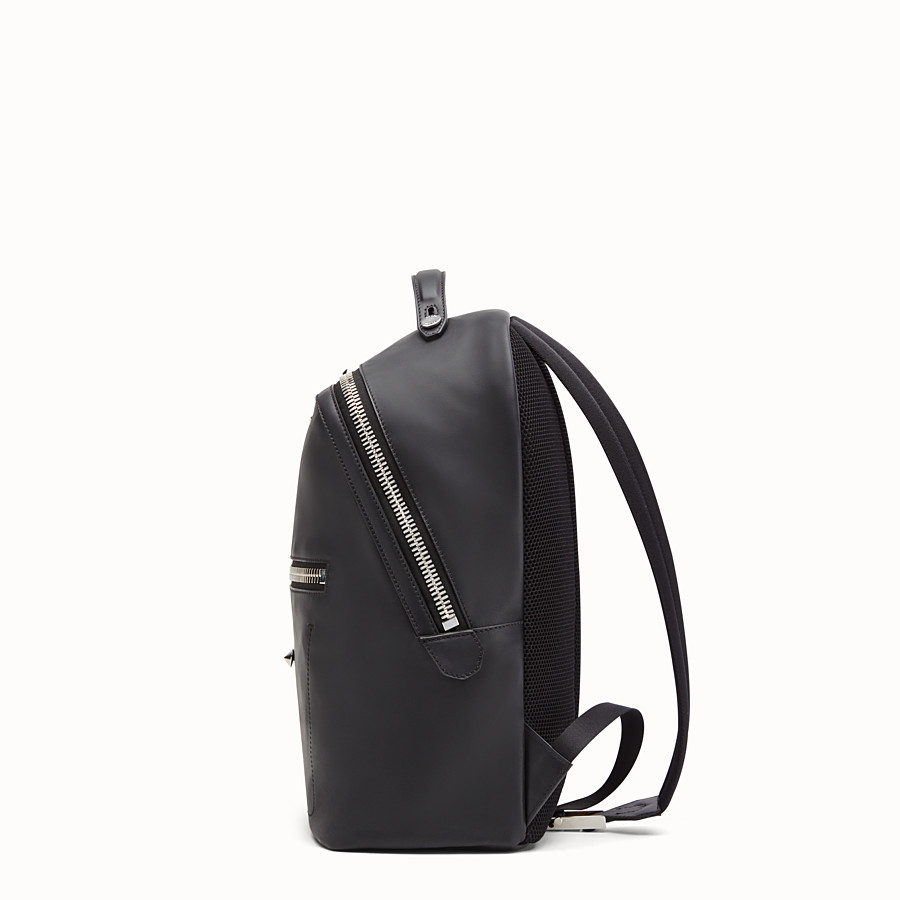 FENDI BACKPACK - Black leather backpack - view 2 detail