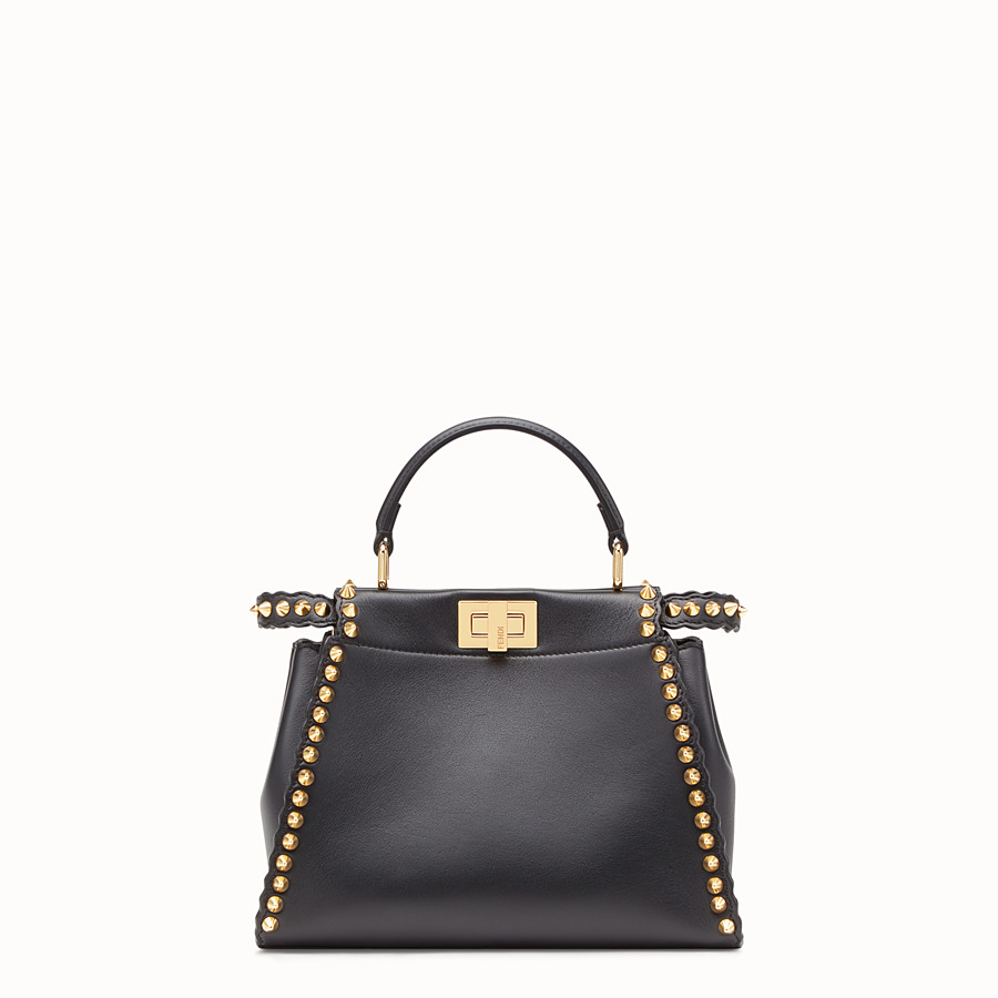 FENDI PEEKABOO MINI - Sac en cuir noir - view 1 detail
