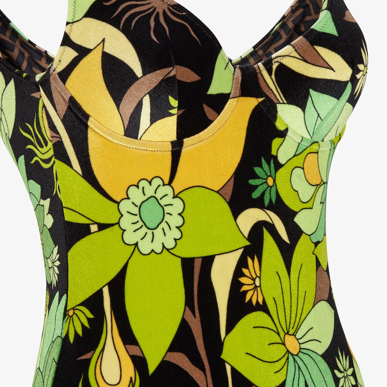 FENDI ONE-PIECE SWIMSUIT - Multicolor chenille swimsuit - view 3 detail