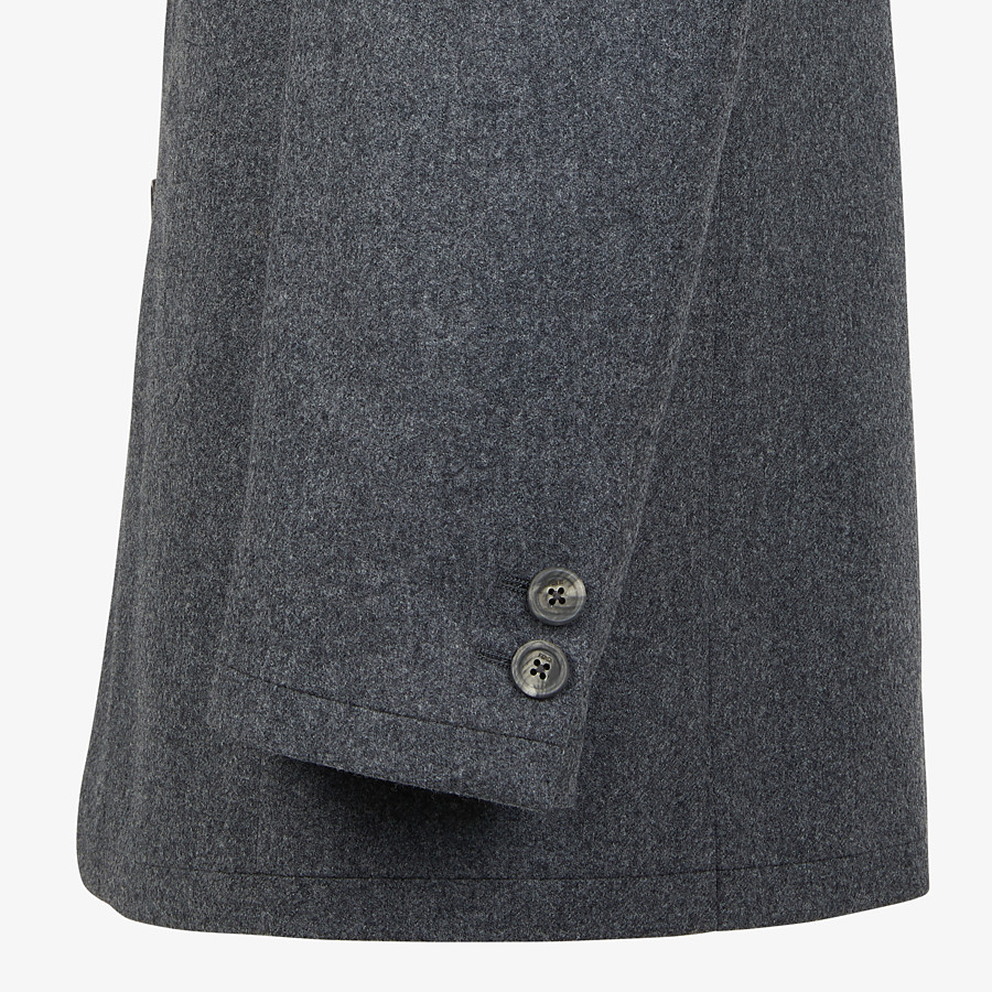 FENDI JACKET - Gray wool blazer - view 4 detail