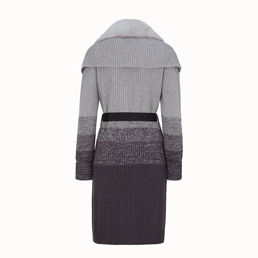 FENDI COAT - Grey wool coat - view 2 detail