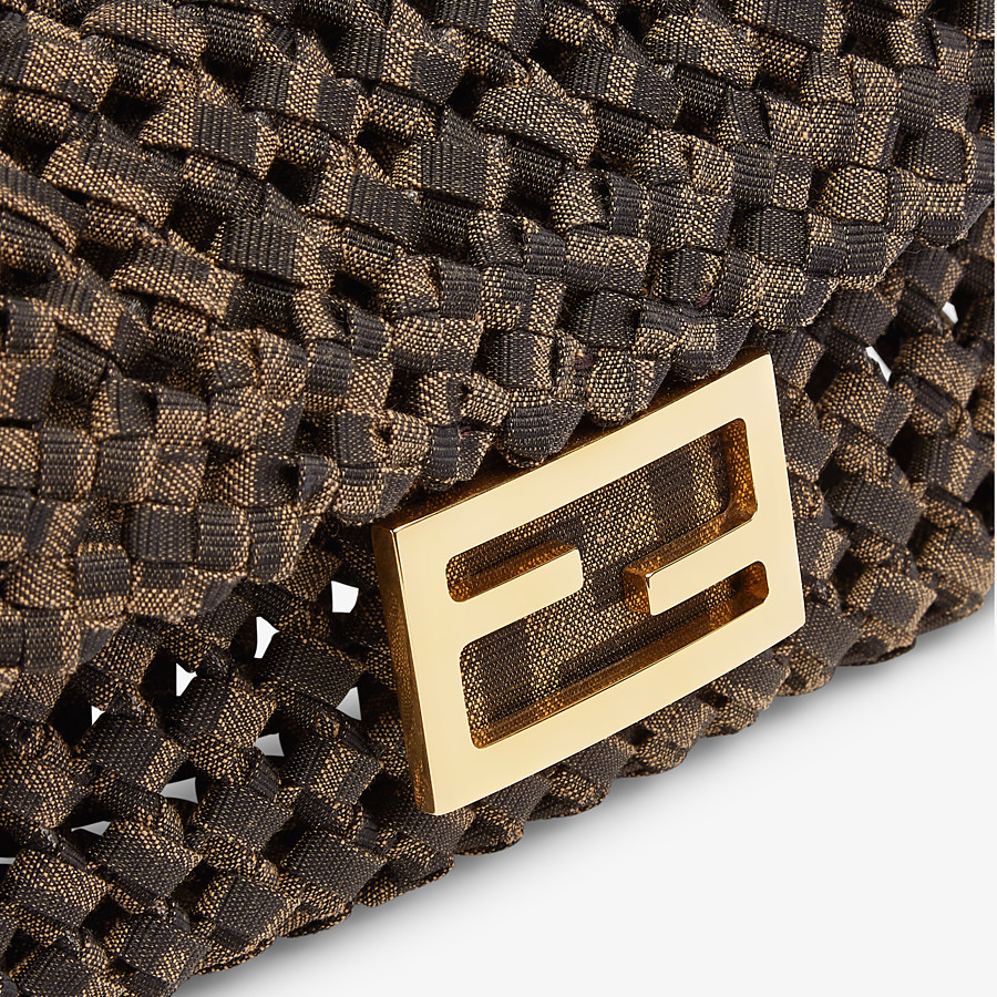 FENDI BAGUETTE - Jacquard fabric interlace bag - view 6 detail
