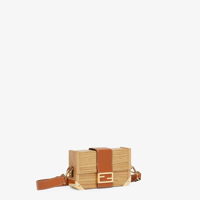 FENDI BAGUETTE TRUNK MINI - Natural wood bag - view 2 detail
