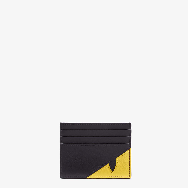 FENDI CARD HOLDER - Black calfskin card holder - view 1 detail