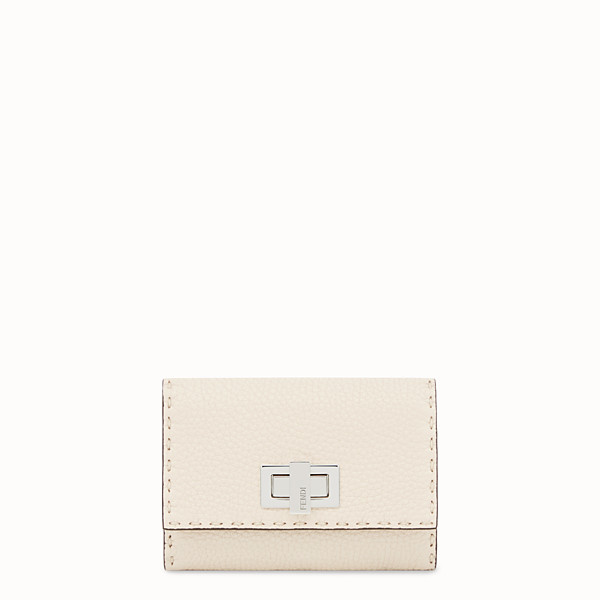 FENDI CONTINENTAL MEDIUM - White leather wallet - view 1 small thumbnail