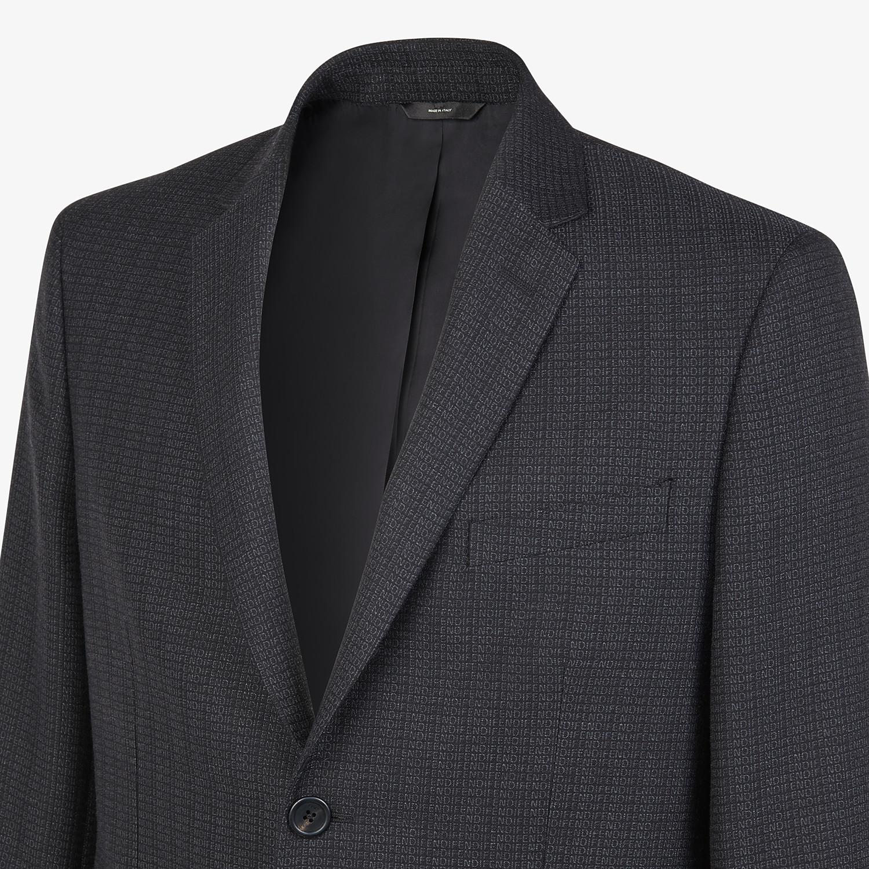 FENDI JACKET - Blazer in black cotton, silk and wool - view 4 detail