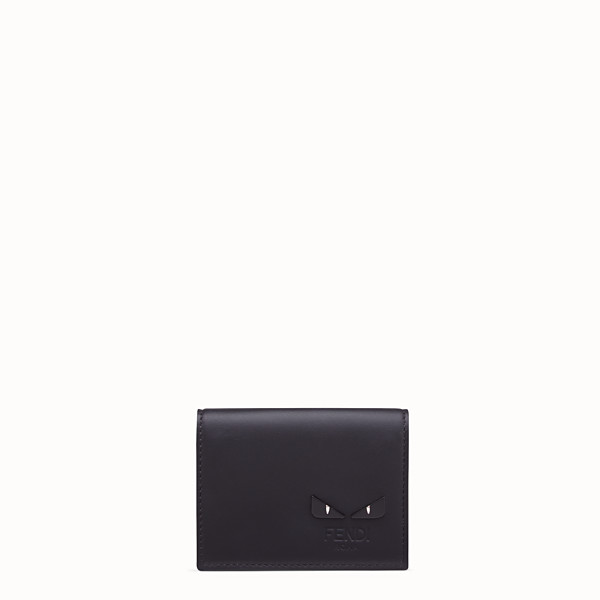 FENDI  - Black, calf leather tri-fold wallet - view 1 small thumbnail