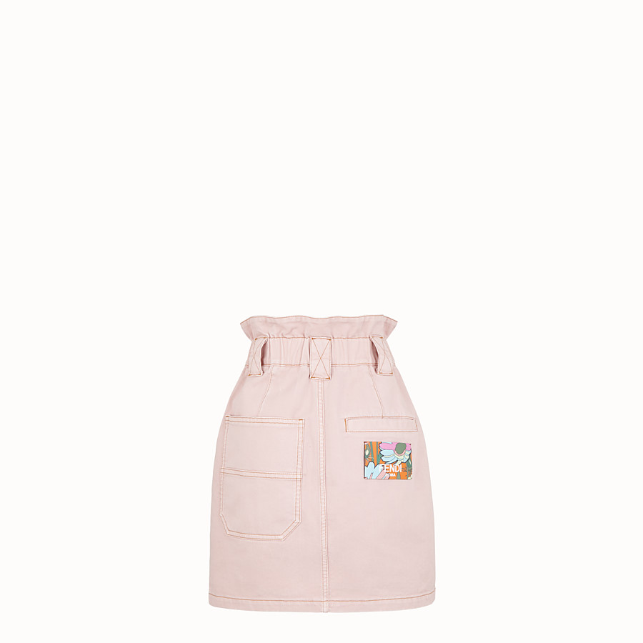 FENDI GONNA - Gonna in denim rosa - vista 2 dettaglio