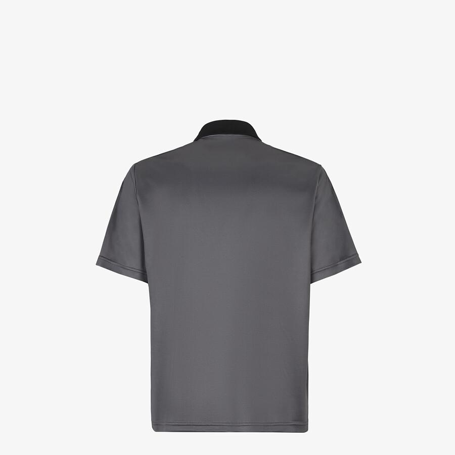 FENDI POLO SHIRT - Grey fabric polo shirt - view 2 detail