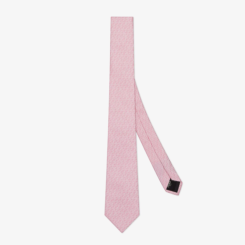 FENDI TIE - Pink silk tie - view 1 detail