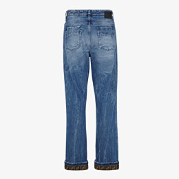 FENDI DENIM - Dark blue denim jeans - view 2 thumbnail
