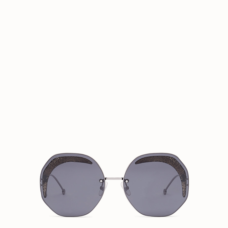 FENDI FENDI GLASS - Ruthenium-coloured sunglasses - view 1 detail