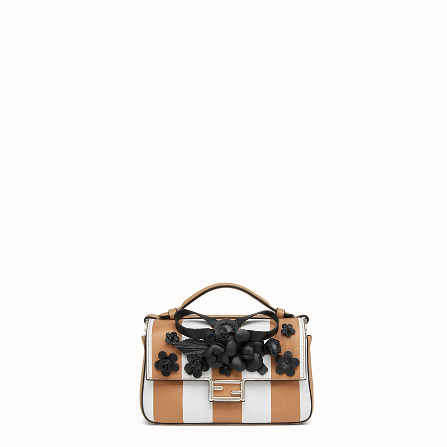 FENDI DOUBLE MICRO BAGUETTE - Micro bag in multicoloured leather - view 1 detail