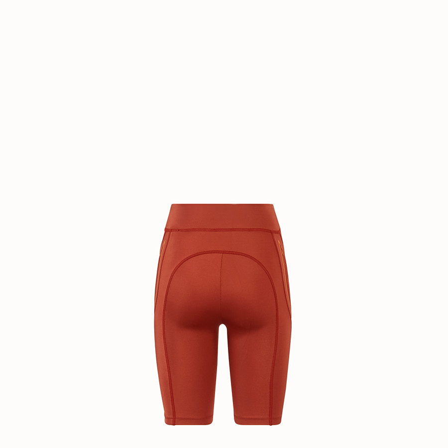 FENDI CYCLIST BERMUDAS - Brown lycra shorts - view 2 detail
