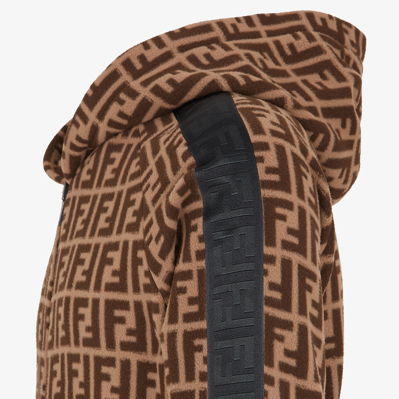 FENDI SWEATSHIRT - Brown fabric sweatshirt - view 3 detail