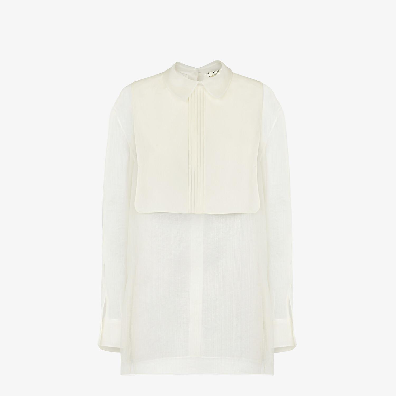 FENDI SHIRT - White silk shirt - view 1 detail