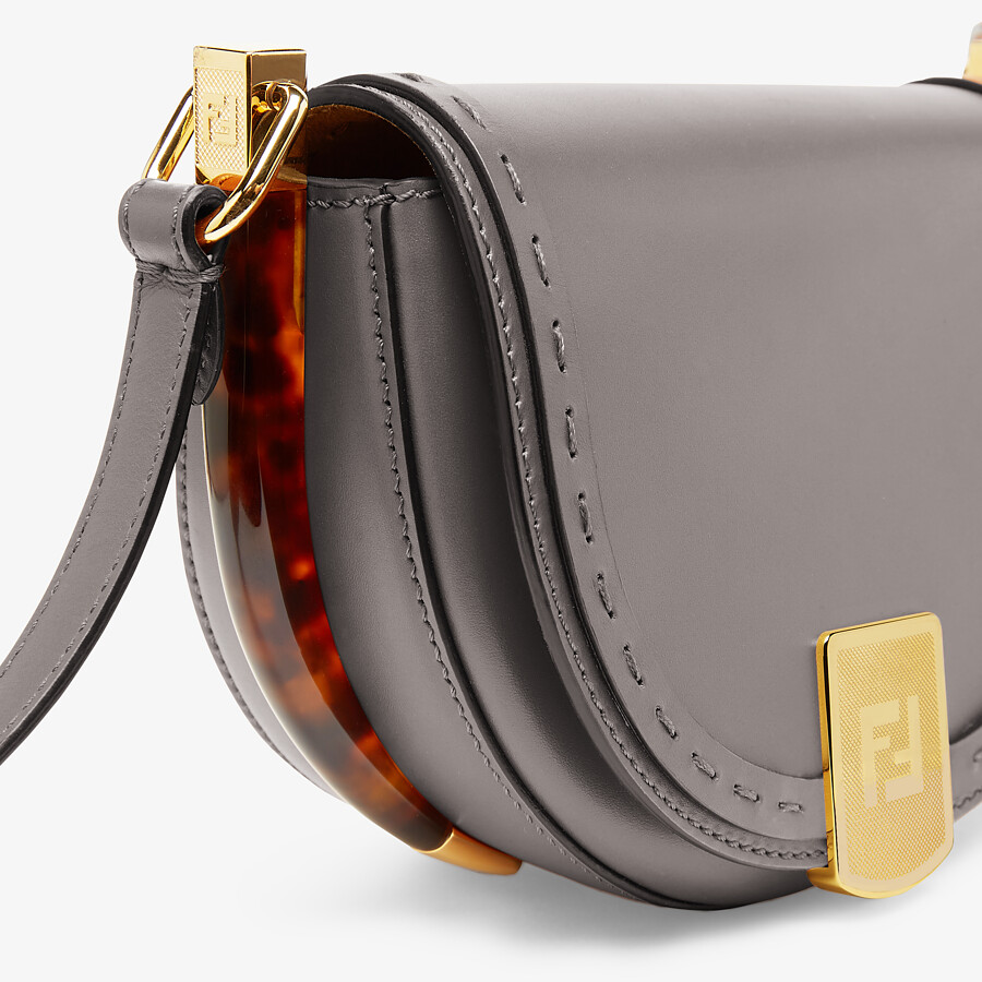 FENDI MOONLIGHT - Gray leather bag - view 5 detail