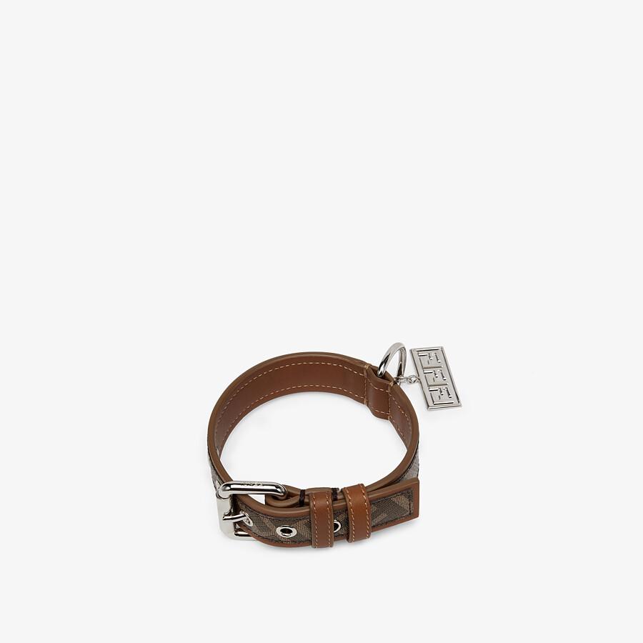 FENDI DOG COLLAR - Brown fabric collar - view 1 detail