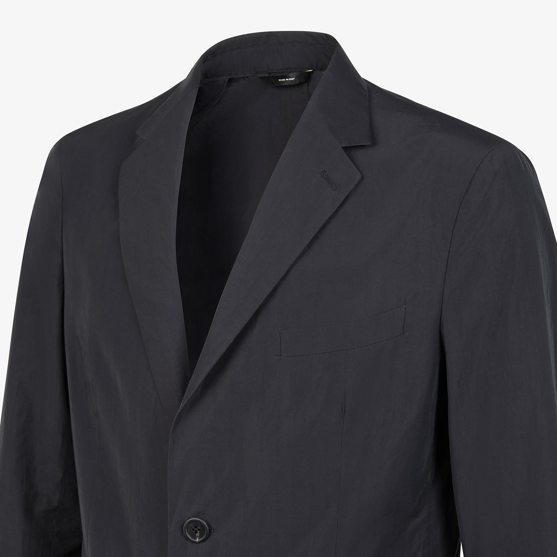 FENDI JACKET - Blazer in black nylon and cotton - view 4 detail