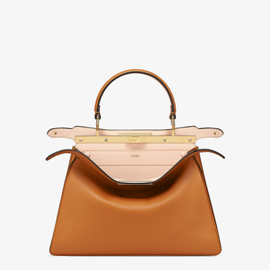 FENDI PEEKABOO ISEEU MEDIUM -  Brown leather bag - view 2 detail