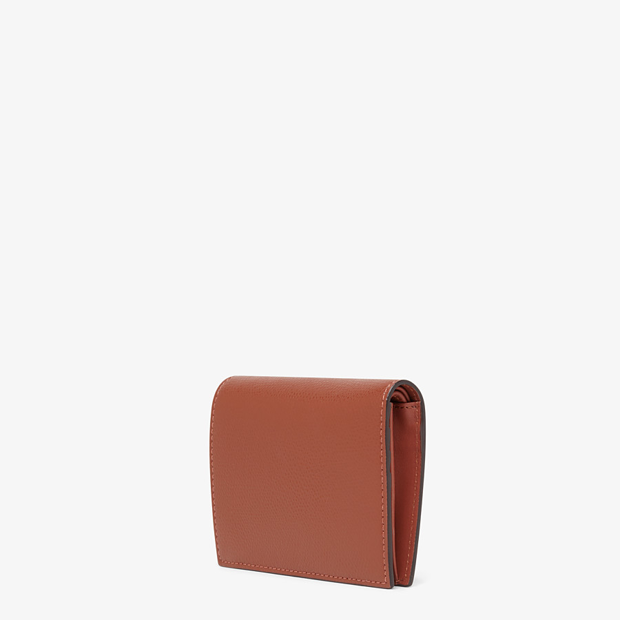 FENDI BIFOLD - Brown leather compact wallet - view 2 detail