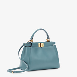 FENDI PEEKABOO ICONIC MINI - Pale blue leather bag - view 2 thumbnail