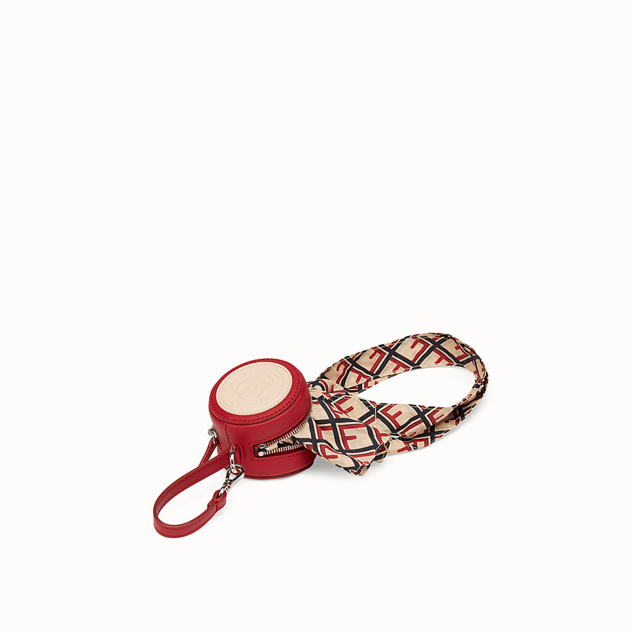 FENDI HELP BAG CHARM - Red leather charm - view 2 detail