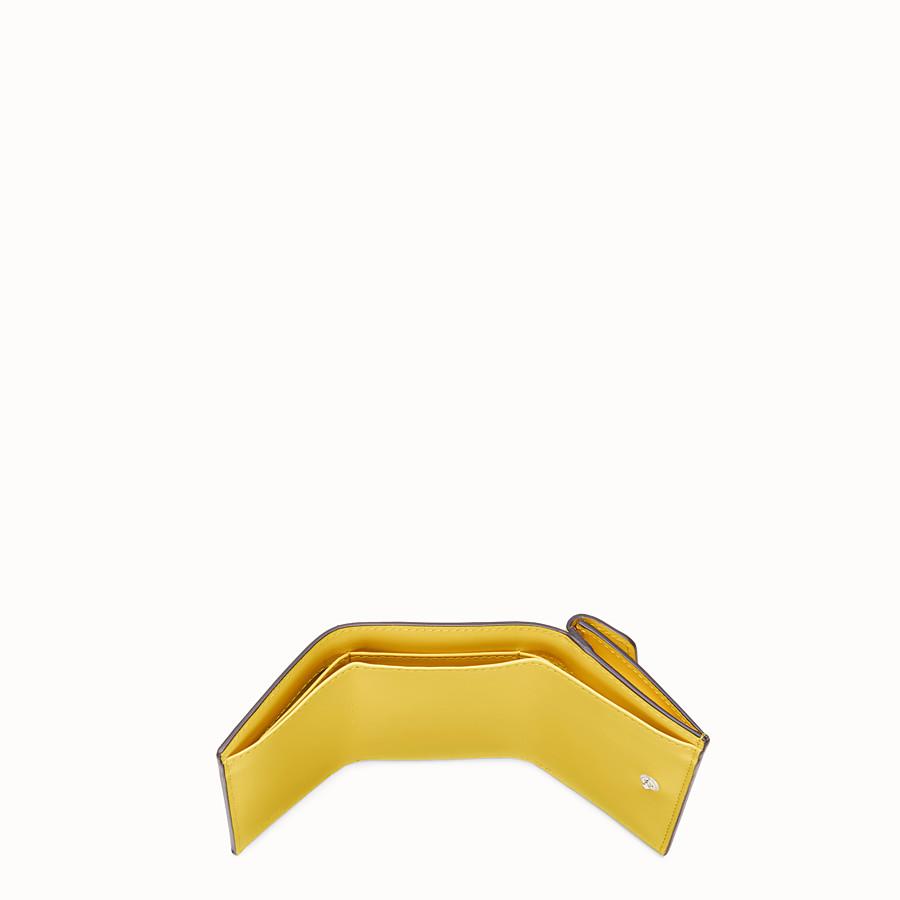 FENDI MICRO TRIFOLD - Yellow leather wallet - view 4 detail