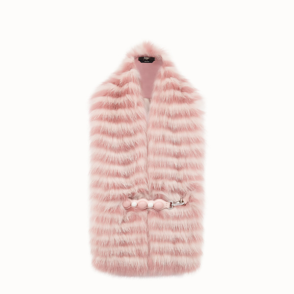FENDI COLLAR - Pink fox fur collar - view 1 small thumbnail