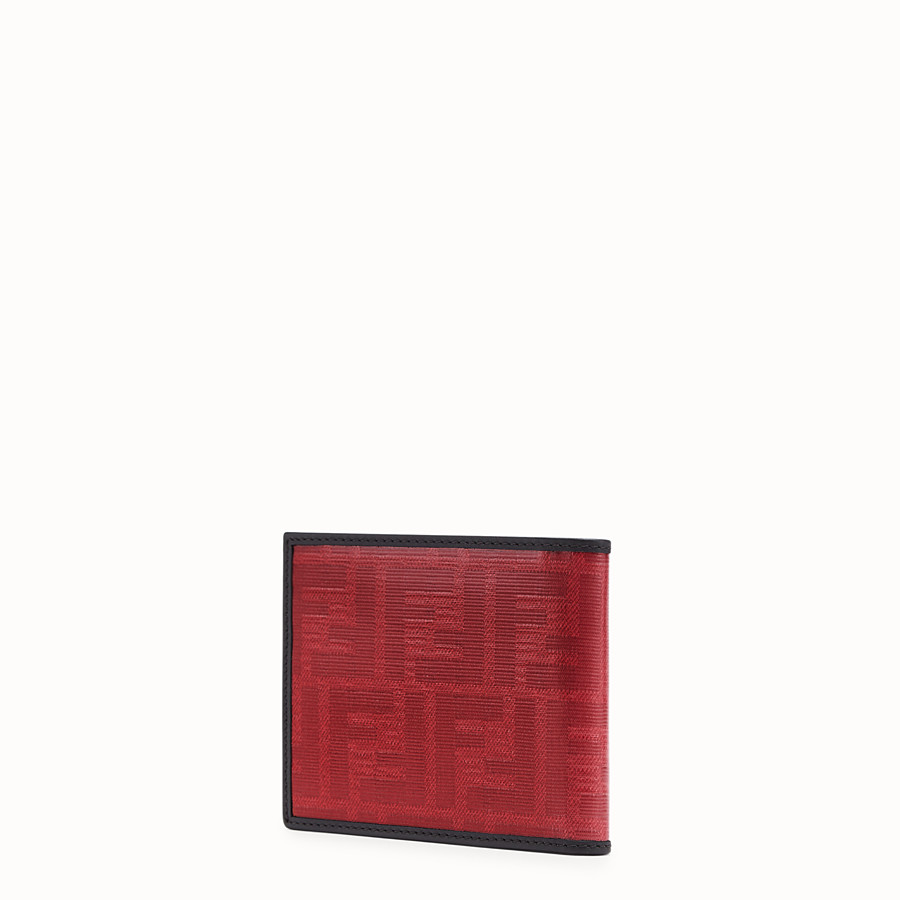 FENDI WALLET - Red fabric bi-fold wallet - view 2 detail